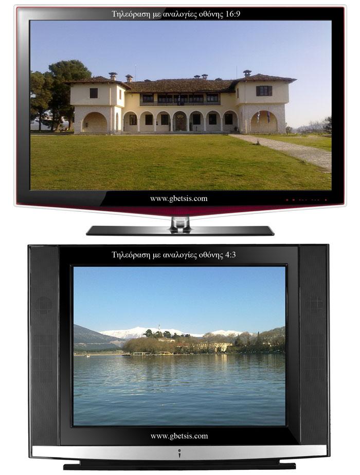 Format τηλεόρασης. 16:9 και 4:3